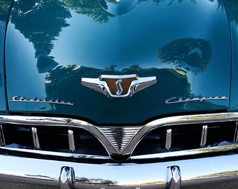Teal Green Classic Car Photo - Studebaker Grille 5x7 Photo Art - Vintage Car Photography - Chrome Brightwork - Car Photos by Liberty Images