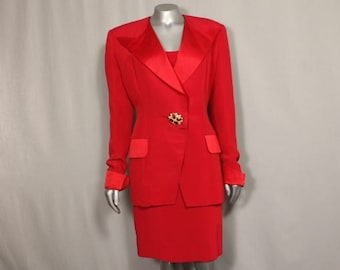 Red Sizzling Hot Vintage Women's POWER SUIT