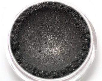 "Shimmery Black Eyeshadow - ""Midnight"" - Vegan Mineral Eyeshadow Net Wt 2g"