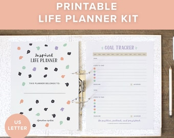 Printable Life Planner | Printable Planner 2018 | 2018 Planner | Planner Pages