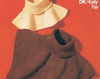 Ski Polo Neck Cozy Cosy Knitting Pattern PDF (T150)