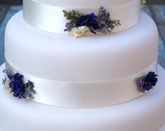 Provence Dried Flower Cake Ribbons