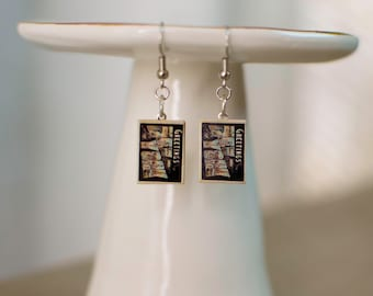 New York Jewelry, New York Earrings, I heart NYC, NYC Jewelry, NYC Earrings, I love Travel, Postcard Jewelry, Postcard Earrings