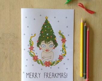 Printable Christmas Card - Merry Freakmas