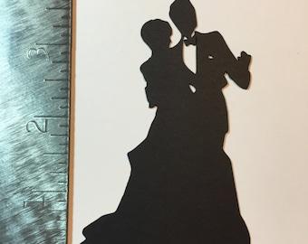 Bride and Groom silhouette die cut
