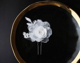 Bridal Floral Comb Wedding Headpiece Bridal Hair Accessories Flower Hair Comb Bridal Hair Comb - Rustic Wedding Hair Accessory