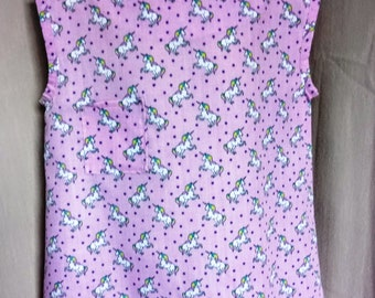 Girls pink unicorn cotton top