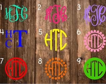 SALE** Monogram Decal/Monogram Sticker/Monogram Car Decal/Vinyl Decal/Vinyl Monogram/Yeti Decal/Car Decal/Laptop Decal/Yeti Cup Decal/Yeti