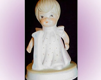 Lefton China Birthday Girl Age 1 Christopher Collection Vintage Figurine Cake Topper