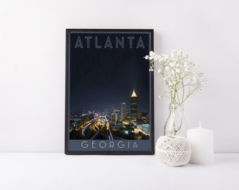 Atlanta - Print - Digital Art