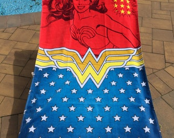 Wonder Woman BEACH Towel Personalized