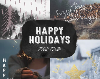 Happy Holidays Overlays - INSTANT DOWNLOAD