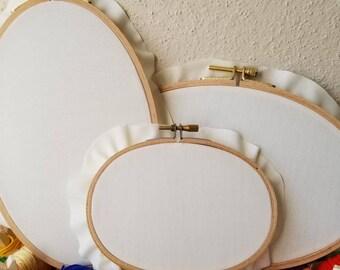 Custom embroidery hoop (oval)