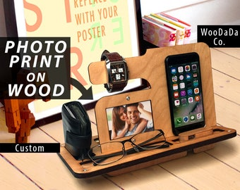 Gift for husband, Gift for men, Gift for him, gift for her, Mens birthday gift, gift for dad, docking station, iphone dock, Father's Day