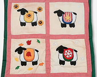 Quilted Wall Hanging Kit - Four Seasons Sheep