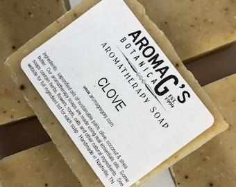 Clove handmade soap - natural clove soap - mens favorite soap with clove essential oil and powdered clove