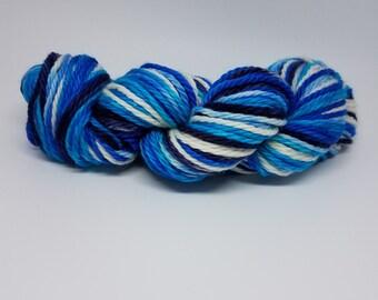 Hand-dyed Superwash Merino Bulky-Sea of Blue