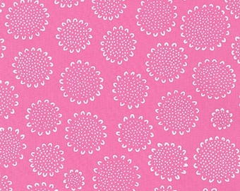 Flower Head Candy Pink Color  ~ Blueberry Park  Collection by Karen Lewis for Robert Kaufman