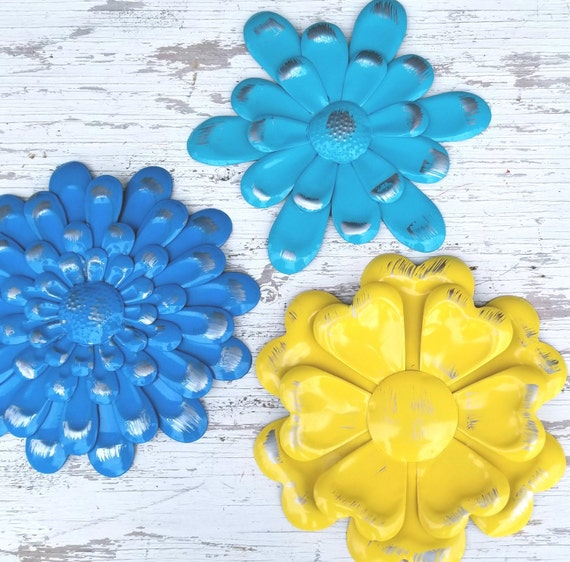 Colorful Teal Metal Wall Art Motif - Wall Art Collections ...