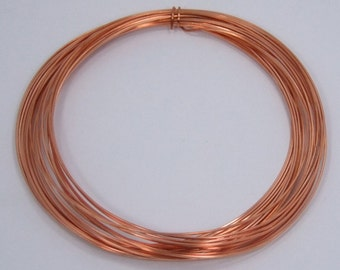 Square Dead Soft 22 GA Copper Crafters and Jewelry Makers Wire 25 Feet