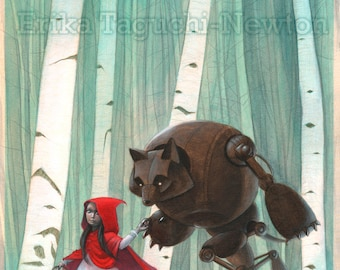 Red Riding Hood 9x12 Art Print