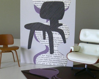 This card Eames to please - blank greeting card