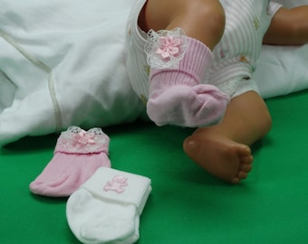 New born baby decorated socks