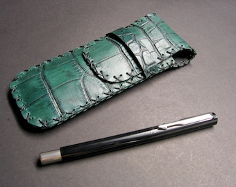 Leather pen holder, leather pocket pen holder, leather pen case, pen case, pen pouch, leather pencil case, pencil case