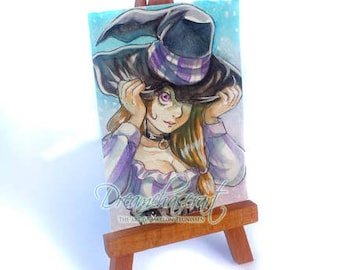 Original ACEO -  Witchy
