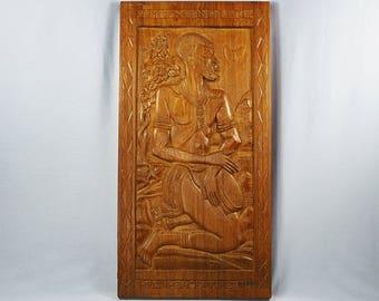 Teak Carved Decorative Panel