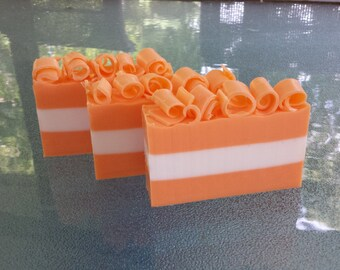 Gift Pack of 9 Orange Creamsicle Soaps / Homemade