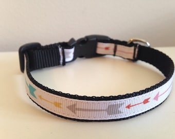Colorful Arrows 1/2 inch Small Dog Collar