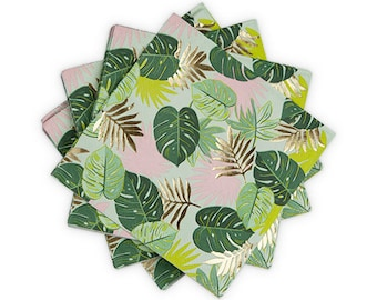 Tropical Party Napkins/ Fancy Palm Leaf Napkins/  Tropical Party Decor / Palm Napkins