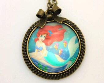 Ariel Necklace, little mermaid Necklace, Ariel jewelry, little mermaid jewelry, 2525C