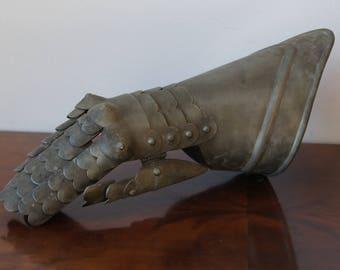 Antique Knight metal hand