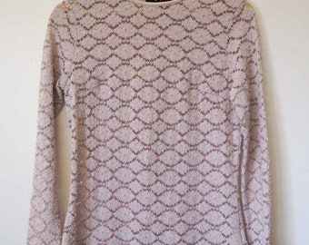 Musk lace long sleeve top