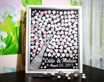 Wedding Guest Book White Silver Sign Guest Book Wedding Guest Book Wedding Guestbook Splash Champagne Guest Book Wedding Guest book