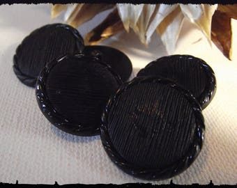 """5 buttons black Decor fantasy 25 mm 1 """"/ 2.5 cm * walking * Button sewing new sewing set"""
