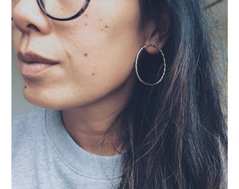 The 'Stella' Twisted Hoop Studs