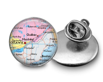 Custom Map Tie Tack or Lapel Pin -  Personalized for Dad or Wedding -  Men's Keepsake - Father's Day
