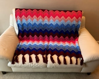 Royal Ripple Afghan Blanket