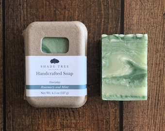 Rosemary Mint Soap. Rosemary Soap. Natural Soap. Herbal Skin Care. Herbal Soap. Handcrafted Soap. Vegan Soap. Gifts Under 10. Essential Oil