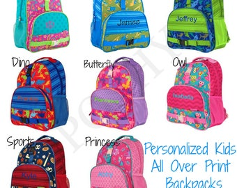 Personalized Kids Backpack , All Over Printed backpack, Boys Backpack, Girls backpack, Monogram , Elementary school backpack