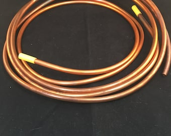 Copper Tubing, 1 Foot of Seamless Copper Tubing 1/4 Inch Diameter, Made in USA