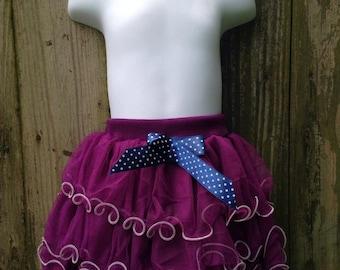 Purple Layered Tulle Skirt