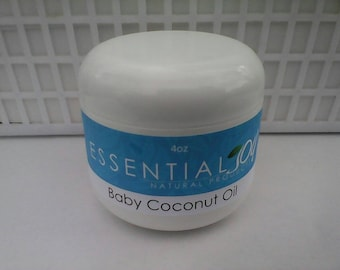 Coconut Oil for Babies and children, 4 oz. Head to toe oil, Hair Conditioner, Sensitive Skin, Skin Oil, Baby Oil, Baby Hair, Skin Care