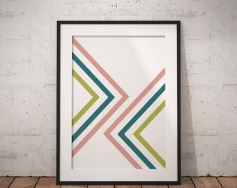 Mid Century Modern, Mid Century Print, Geometric Wall Art, Geometric Wall Decor, Best Selling Art Print, Modern #MidCenturyCollection Nº3
