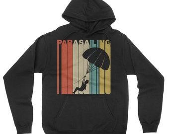 Retro 1970's Style Parasailing Parasail Hoodie