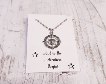 Compass Necklace, Compass Jewelry, Traveller's Necklace, Traveller's keepsake Gift, Compass Accessory, Wanderlust Jewelry, Sentimental Gift