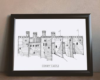 Conwy Castle | North Wales | Castle Poster | Welsh Art